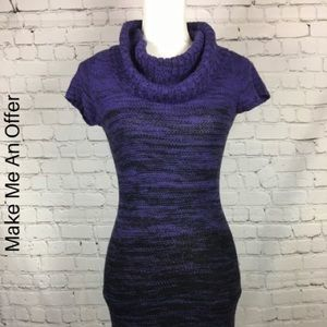 Lei juniors small sweater dress purple black